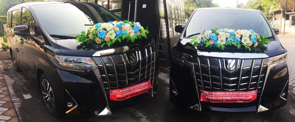 sewa mobil pengantin alphard facelift hitam 2020 surabaya