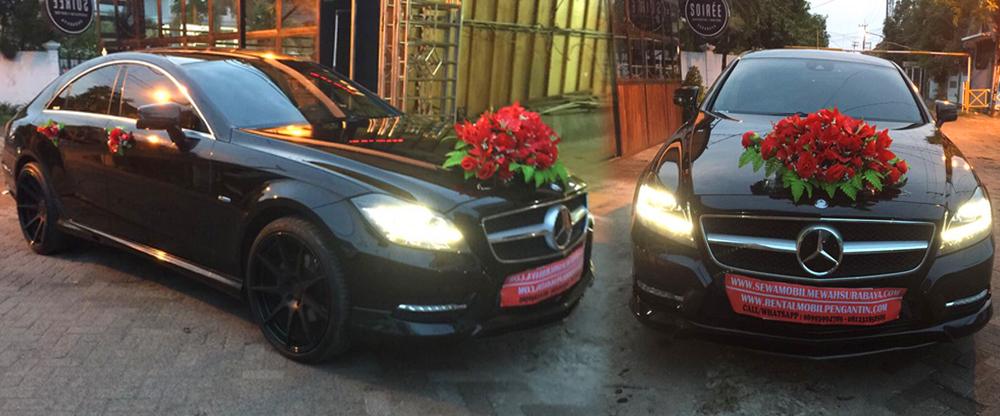 sewa mobil pengantin mercy cls class hitam 2016/2017 surabaya