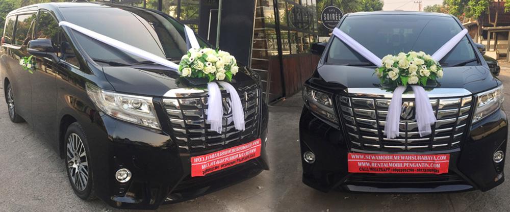 sewa mobil pengantin alphard transformer hitam 2017 surabaya