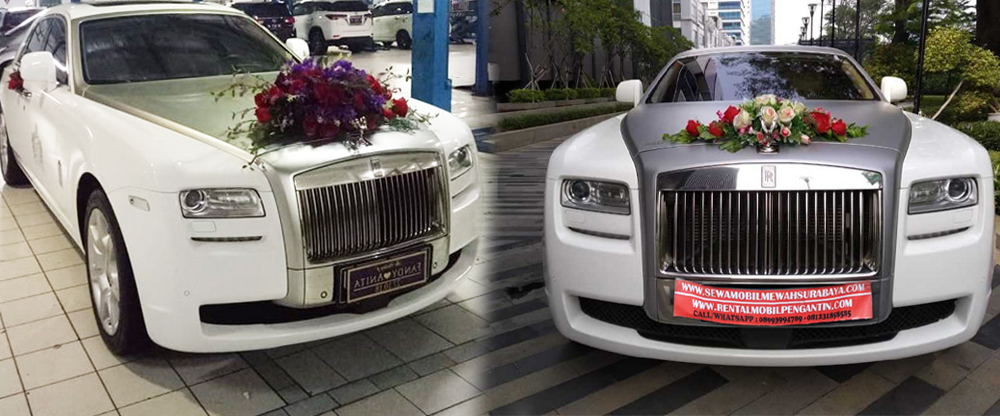sewa mobil pengantin rolls royce surabaya