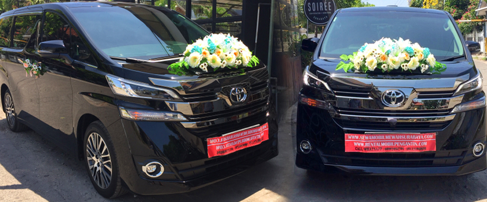 sewa mobil pengantin vellfire transformer hitam 2017 surabaya