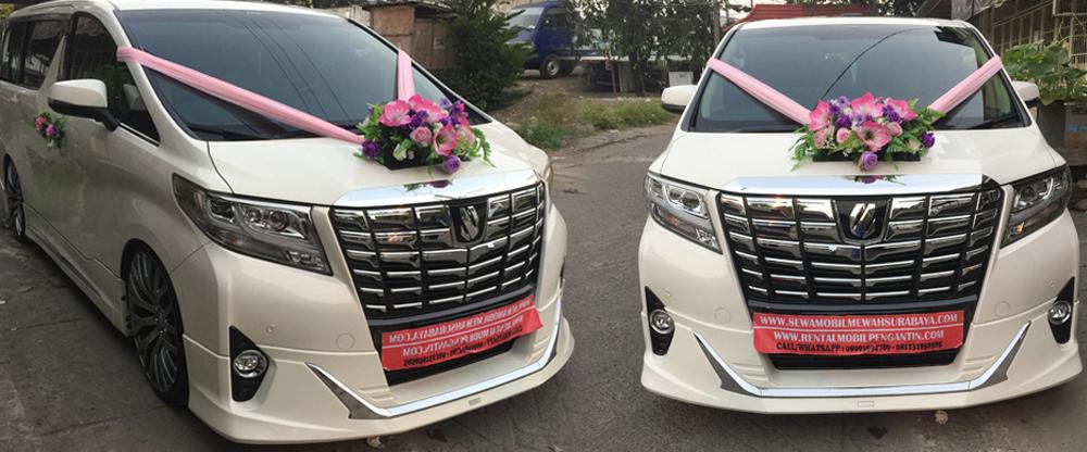 sewa mobil pengantin alphard transformer putih 2017 surabaya